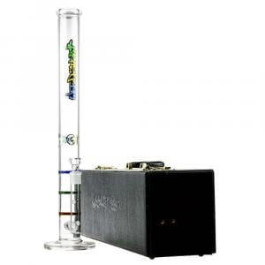 Color-Line Ice Bong-Triple HoneyComb Perc in Case