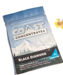 Coast Concentrates Black Diamond Shatter