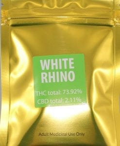 Green Gold White Rhino Shatter