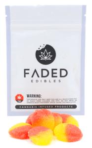 faded edibles peach drops