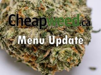 cheapweed menu update