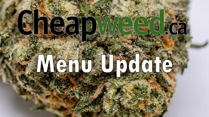 cheapweed menu update