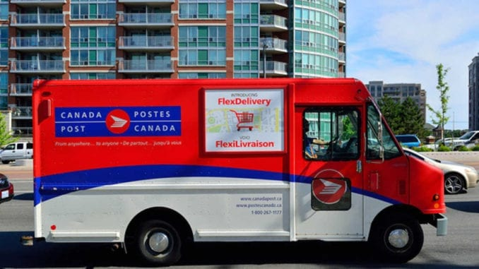 canada post weed truck
