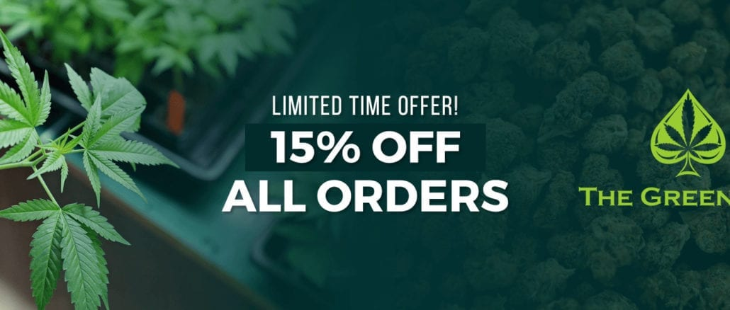 green ace banner 15% off