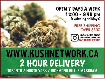 kush network delivery toronto
