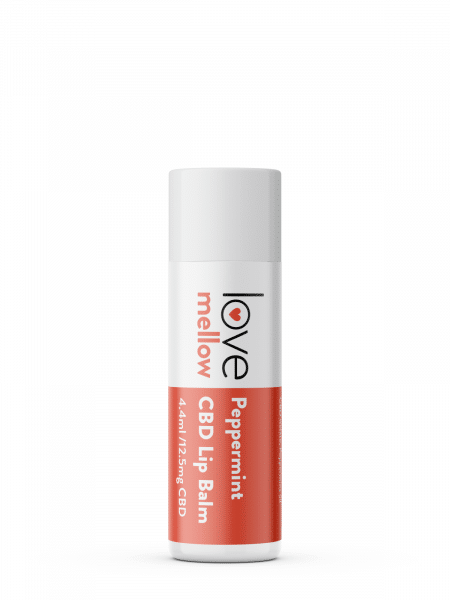 Love Mellow Peppermint CBD Lip Balm 4.4ml with 12.5mg of Cannabidiol