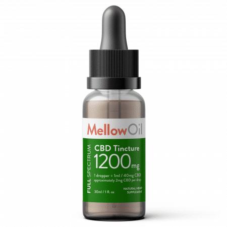 Mellow Full Spectrum CBD Tincture 30ml with 1200mg Cannabidiol