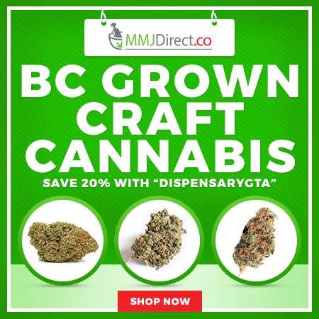 BC Grown Craft Cannabis - Save 20% with DispensaryGTA