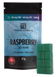 Raspberry THC/CBD Indica Gummies