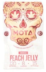 Indica Medicated Peach Jelly 120mg THC (Mota)