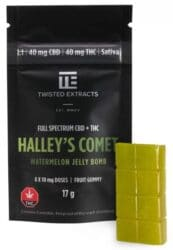 Halley's Comet Jelly Bomb THC gummies by Twisted Extracts